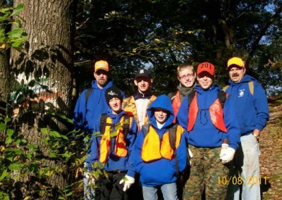 Boy Scout Troop No. 379 from Wapwallopen, PA, United Church of Christ took to the trails to help Earth Conservancy mark trails at the Mocanaqua Loop Trail System.