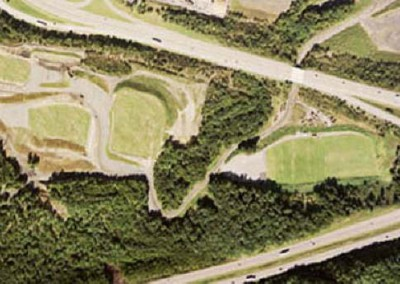 This aerial shot shows both the lower and upper fields of the Greater Hanover Area Recreation Park.