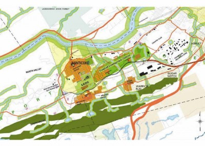 """The """"Thinkbelt"""" is one option for responsible development of lands in the Lower Wyoming Valley.  See the South Valley Corridor Lands Reuse Analysis and Sustainable Redevelopment Framework report on in the Land Use Plans tab of the website for more information."""