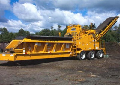 The grinder can process a wide variety of yard waste materials.