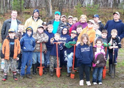 Nanticoke Cub Scout Troup #415 helped Earth Conservancy plant 50 White Pine and Norway spruce at the Phase II Educational Wetland site to help stop erosion and water runoff.