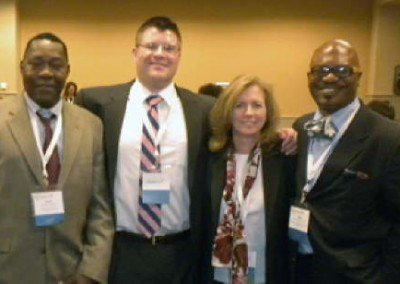 Earth Conservancy participated in the EPA's 2011 National Brownfields Conference held in Philadelphia, PA. Participating in a panel discussion called Brown to Green: The New Industry Standard - Reuse of Mine Scarred Lands are left to right: David Kargbo, Ph.D.;  Greg Firely; Jacqueline Dickman; Peter Sam, Ph.D.