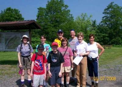 Hikers participate in the annual National Trails Day event, this one held at the Mocanaqua Loop Trail System.