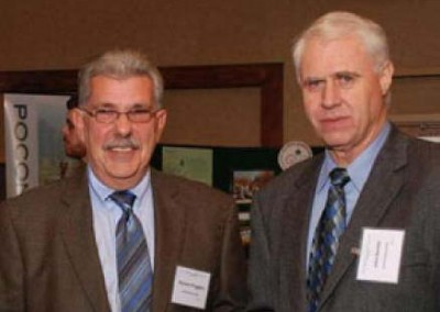 EC's Richard Ruggiero Sr., Property Documentation Specialist & Survey Coordinator, and John Renfer, Sr., Executive Administrator, attend the 2012 Northeast PA Environmental Partners Dinner.