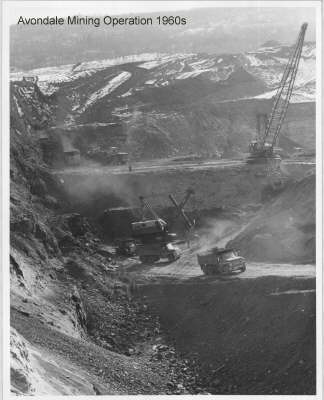 The Avondale Mine was at one time an active strip mine until the 1960s. Once dormant, it became a popular site for illegally dumping garbage.