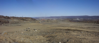 A panoramic photo shows a nearly completed Avondale Pit project.