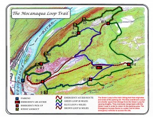 Mocanaqua Loop Trail Map