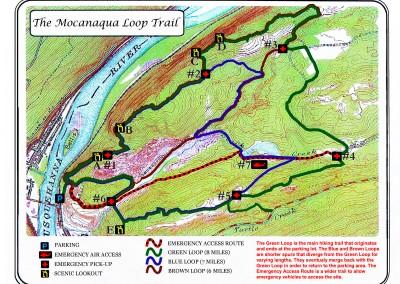 Mocanaqua Loop Trail Map